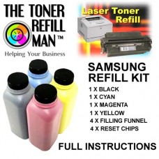 Toner Refill Kit For Use In The Samsung CLP-360 Laser Printer Cartridge CLT-K406S,CLT-M406S,CLT-Y406S,CLT-C406S BK,C,M,Y