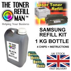 Toner Refill Kit For Use In The Samsung MLT-D205S/L Laser Printer Cartridge ML-3310 1kg + 4 Reset Chips