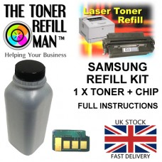Toner Refill Kit For Use In The Samsung MLT-D104S Laser Printer Cartridge ML-1660 1 X Bottle 1 X Chip