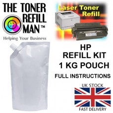 Toner Refill Kit For Use In HP LaserJet Printer Cartridges 1 KG Black Mono Toner