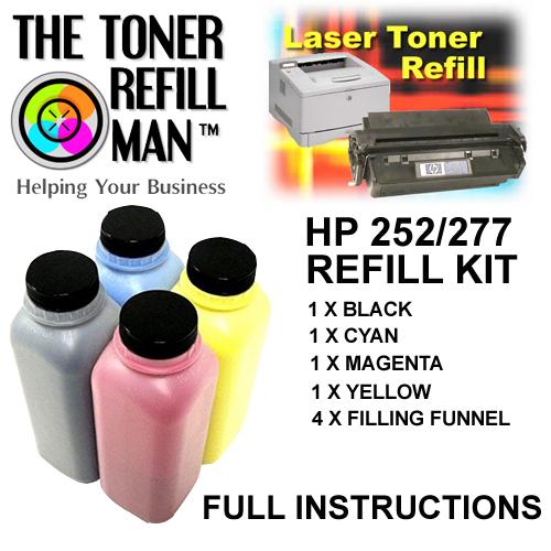 Toner Refill Kit for the HP 201A Cartridges (CF400A, CF401A, CF402A, CF403A)