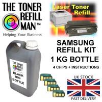 Toner Refill Kit For Use In The Samsung MLT-D205S/L Laser Printer Cartridge ML-3310 1kg + 4 Reset Chips